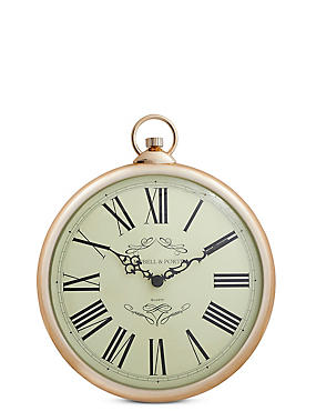 Classic Fob Wall Clock, COPPER, catlanding