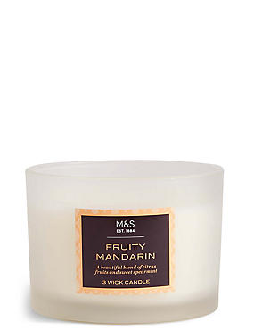 Fruity Mandarin 3 Wick Candle