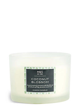 Coconut Blossom 3 Wick Candle