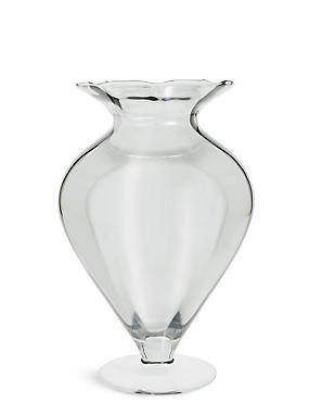 Wide Pretty Splayed Vase