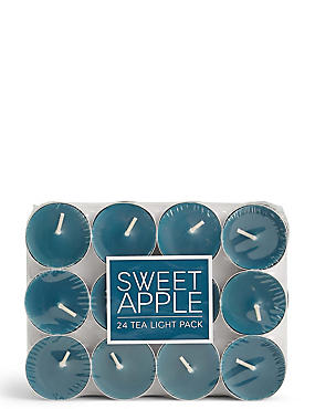 Sweet Apple 24 Scented Tea Lights