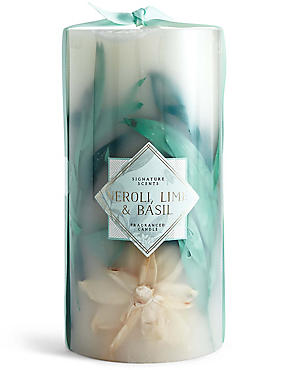Neroli, Lime & Basil Inclusion Candle