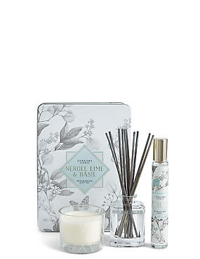 Neroli, Lime & Basil Tin Gift Set
