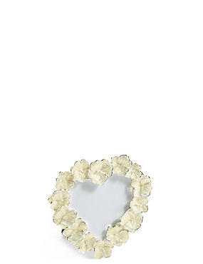 Enamel Flower Heart Photo Frame 8 x 8cm (3 x 3inch)