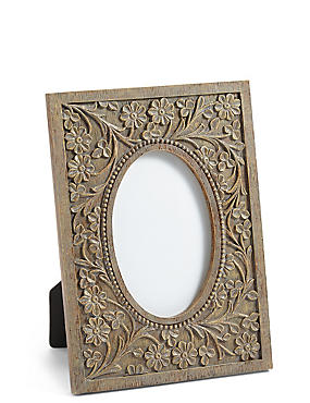 Etched Floral Photo Frame 10 x 15cm (4 x 6inch)