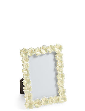 Enamel Flower Photo Frame 10 x 15cm (4 x 6inch)