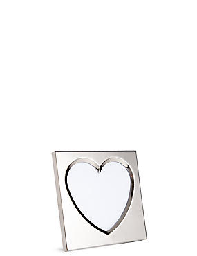 Bevelled Heart Photo Frame 10 x 10cm (4 x 4inch)