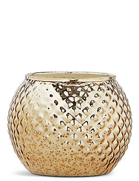 Rose Gold & Oud Large Round Candle