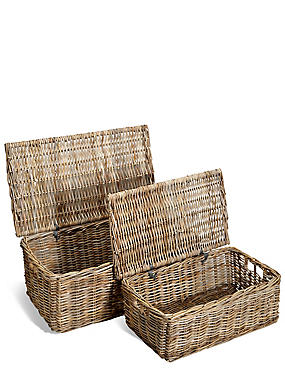 Kubu Rattan Set of 2 Trunks
