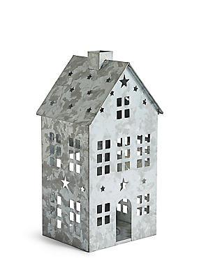 Large House Candle Holder, , catlanding