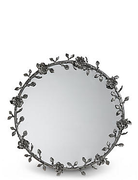 Antique Wreath Wall Mirror