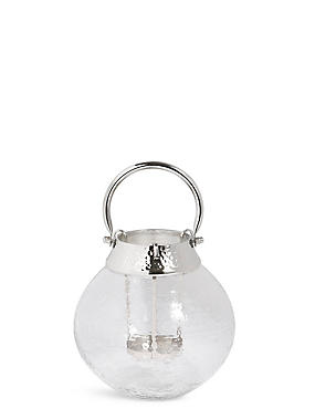 Small Mottled Glass Lantern