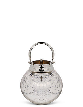Mercury Small Glass & Metal Lantern