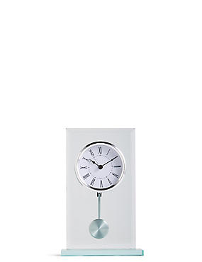 Bevel Glass Mantel Clock