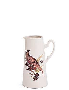 Large Bird Decal Jug, ROSE, catlanding