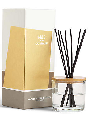 Conran Vintage Leather & Vetiver Diffuser