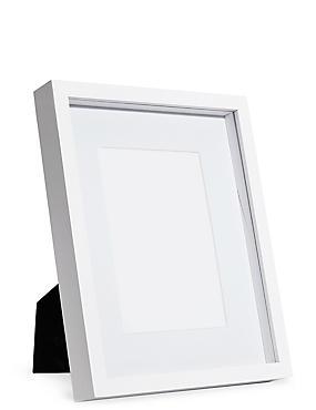 5x7 Solid Wood Photo Frame, WHITE, catlanding