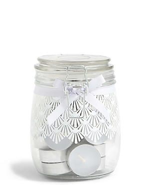 White Jasmine Tea Light Jar