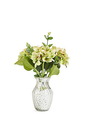 Hydrangeas in Mercury Vase