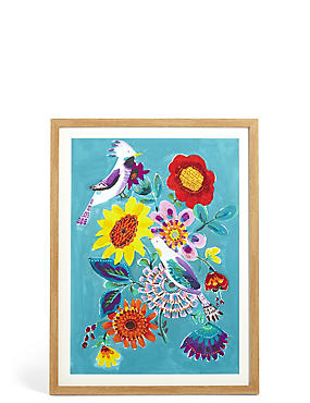 Bright Birdie Bouquet Wall Art