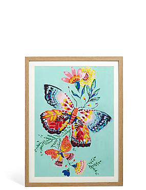 Painted Butterfly Wall Art