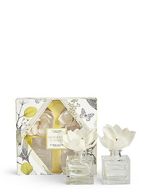 Grapefruit & Ginger Flower Twin Diffuser