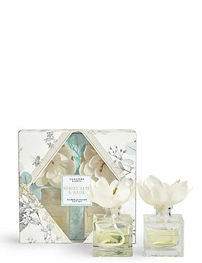 Neroli Lime & Basil Flower Twin Diffuser