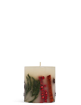 Mandarin, Clove & Cinnamon Scented Small Inclusion Candle