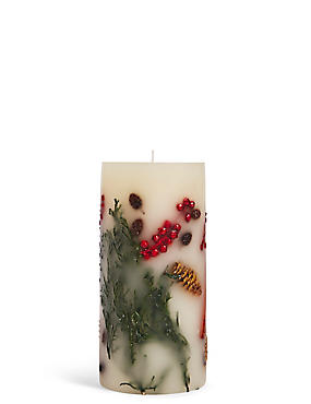 Mandarin, Clove & Cinnamon Scented Tall Inclusion Candle