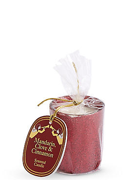 Mandarin, Clove & Cinnamon Scented Gift Candle