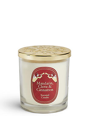 Mandarin, Clove & Cinnamon Scented Lidded Filled Candle