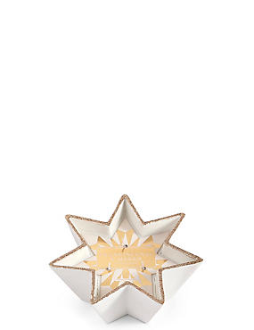 Frankincense & Myrrh Scented Ceramic Star Candle