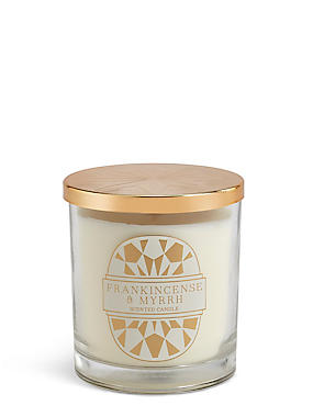 Frankincense & Myrrh Scented Lidded Filled Candle