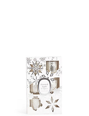 Frosted Apple & Spice Scented 6 Votive Pack