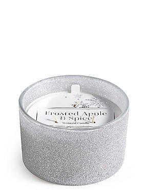 Frosted Apple & Spice Scented Mercury 3 Wick Candle