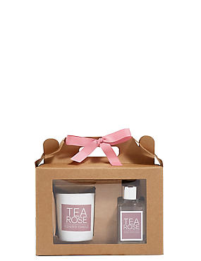 Tea Rose Diffuser & Candle Gift Set