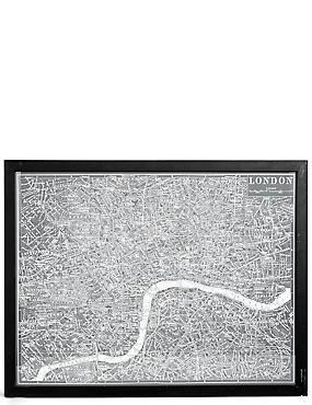 Vintage London Map Wall Art, , catlanding