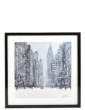 Jon Baker Snowy New York Wall Art