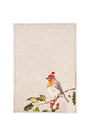 Robin Tea Towel, , catlanding