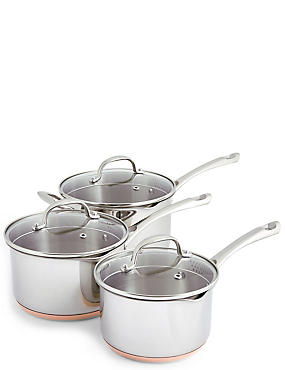 3 Piece Copper Base Pan Set