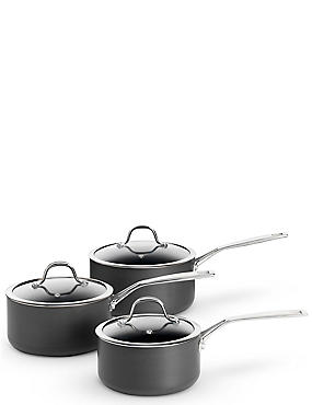 Chef Hard Anodised 3 Piece Pan Set, , catlanding