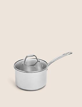 18cm Stainless Steel Saucepan, , catlanding