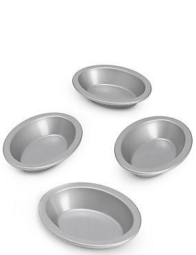 4 Non-Stick Mini Pie Dishes, , catlanding