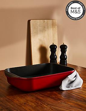 Chef Cast Aluminium 34cm Roaster, RED, catlanding