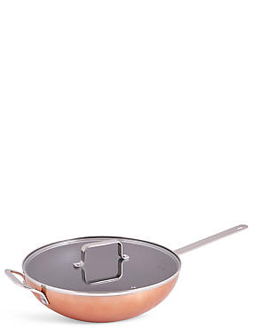 Loft Copper Effect Wok