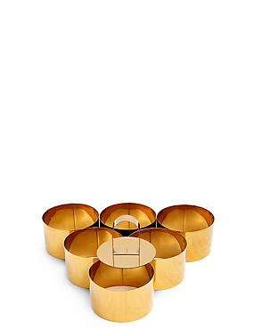 Set of 6 Cooking Rings with Press