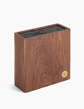 Chef Walnut Bristle Knife Block