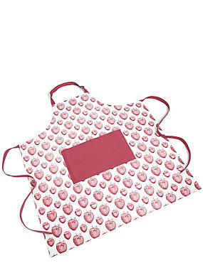 Strawberry Core Print Apron, , catlanding