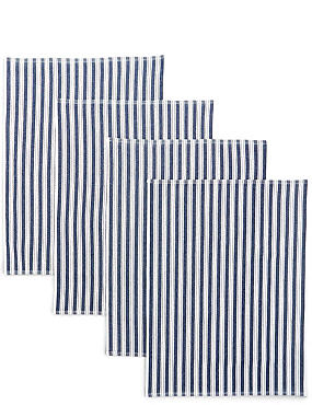 4 Pack Basket Weave Tea Towels