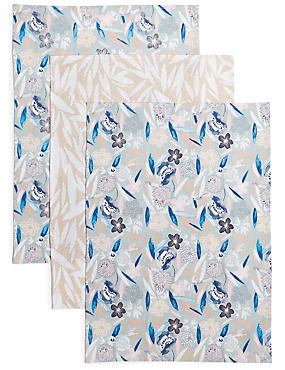 3 Pack Loft Print Tea Towels